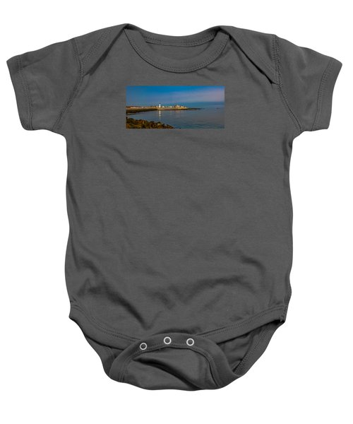 Old Scituate Light From The Jetty Baby Onesie