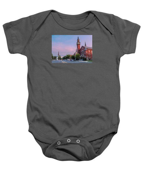 Old Town Hall Sunset Sky Baby Onesie
