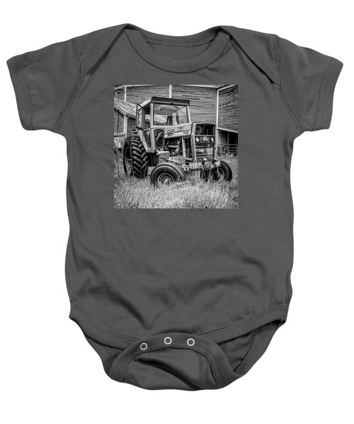 Old Vintage Tractor On A Farm In New Hampshire Square Baby Onesie