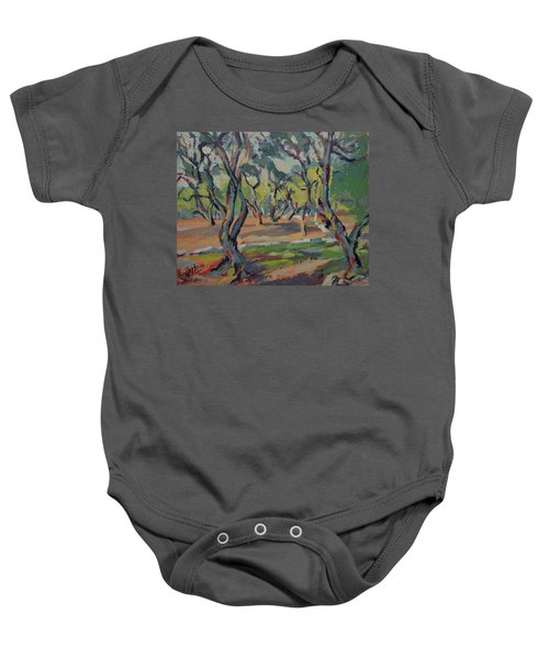 Olive Yard Paxos Greece Baby Onesie