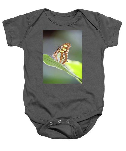 On A Leaf Baby Onesie