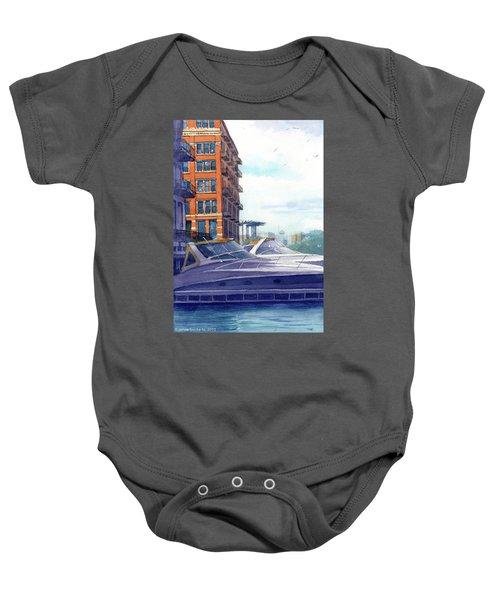 On The Docks Baby Onesie