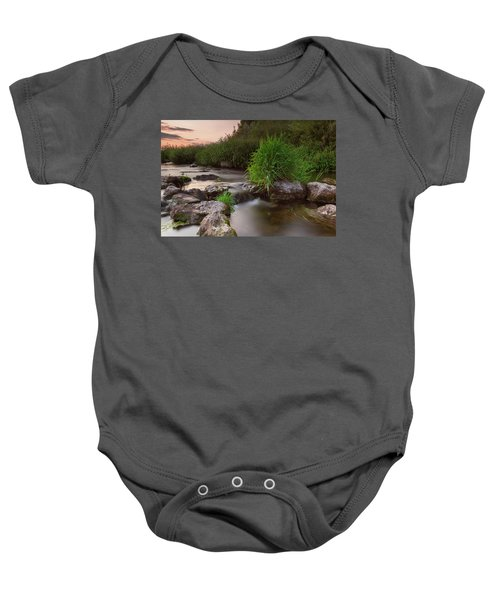 On The Edge Of Time Baby Onesie
