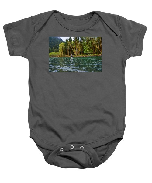 On The River Baby Onesie