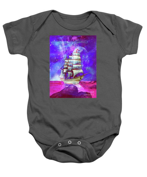 On The Sea At Sunset Baby Onesie