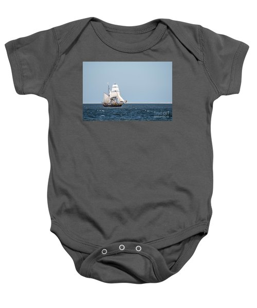 on the way to Texel Baby Onesie