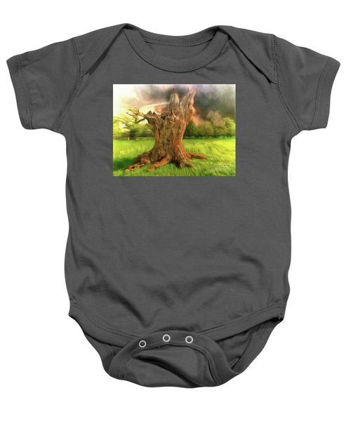 Once I Touched The Stars Baby Onesie