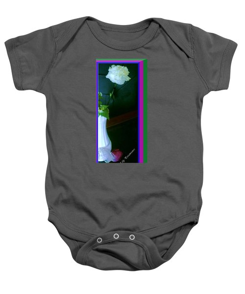 One Carnation And One Rose Bud Baby Onesie