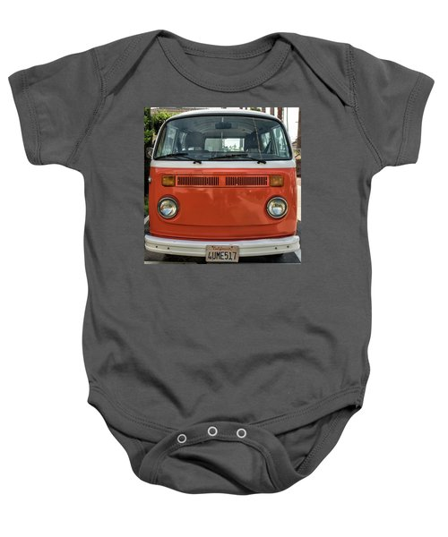 Orange Bus Baby Onesie
