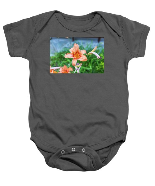 Orange Daylily Baby Onesie