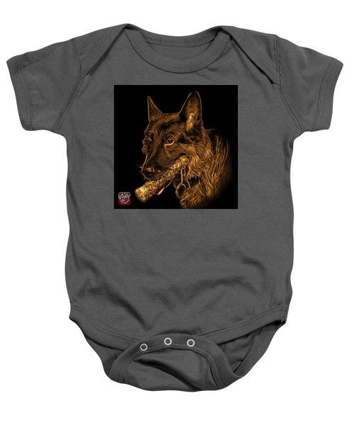Orange German Shepherd And Toy - 0745 F Baby Onesie