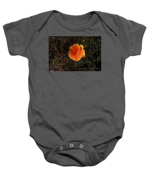 Orange Signed Baby Onesie