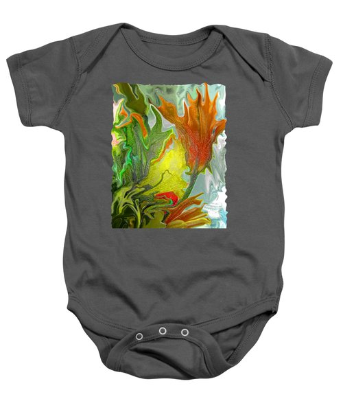 Orange Tulip Baby Onesie