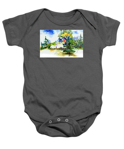 Orchard Springs Bear Baby Onesie