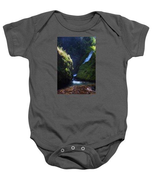 Oregon Waterfall Baby Onesie
