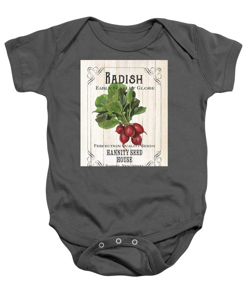 Organic Seed Packet 3 Baby Onesie by Debbie DeWitt