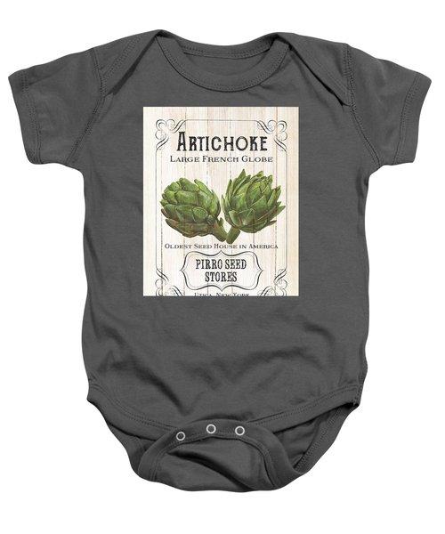 Organic Seed Packets 1 Baby Onesie by Debbie DeWitt