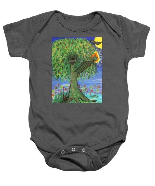 Osain Tree Baby Onesie