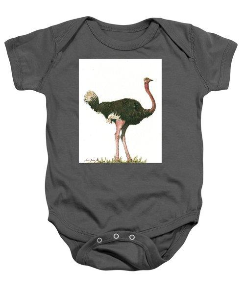 Ostrich Bird Baby Onesie