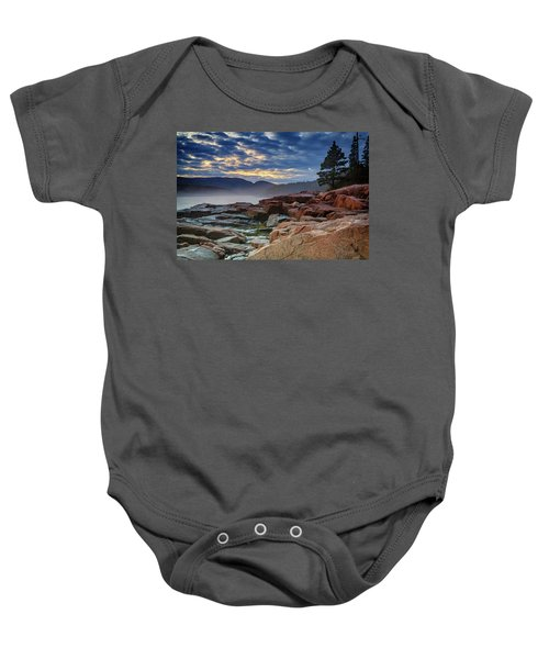 Otter Cove In The Mist Baby Onesie