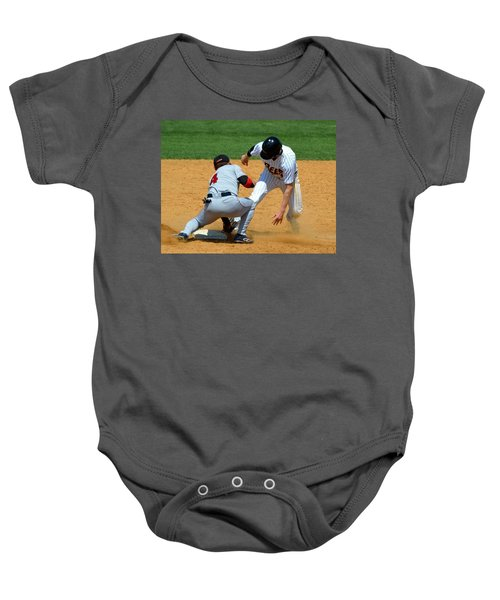 Out At Second Baby Onesie