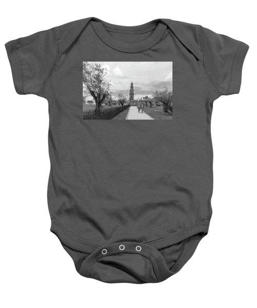 Out For A Walk Baby Onesie