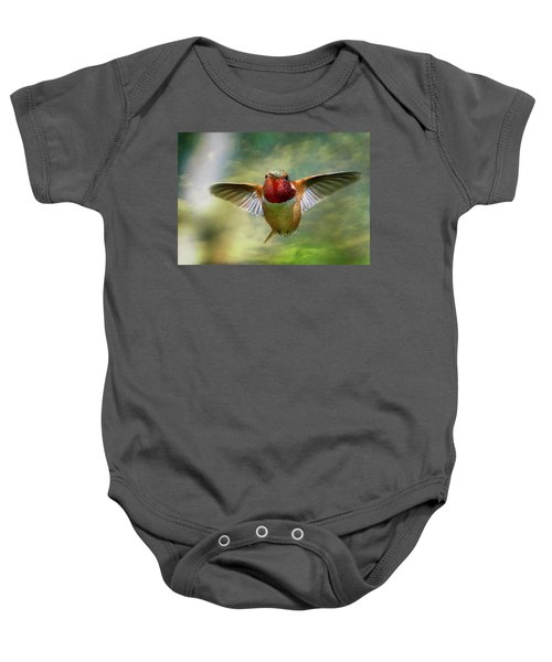 Out From The Clouds Baby Onesie