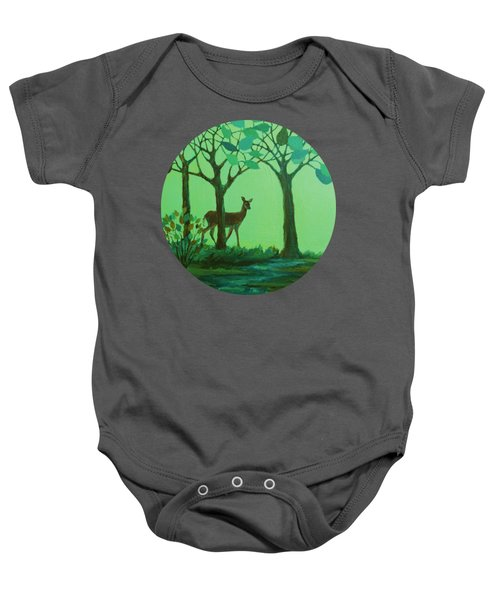 Out Of The Forest Baby Onesie