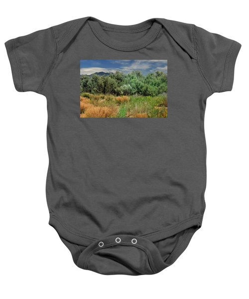 Out On The Mesa 1 Baby Onesie