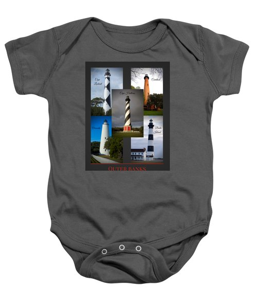 Outer Banks Lighthouses Baby Onesie