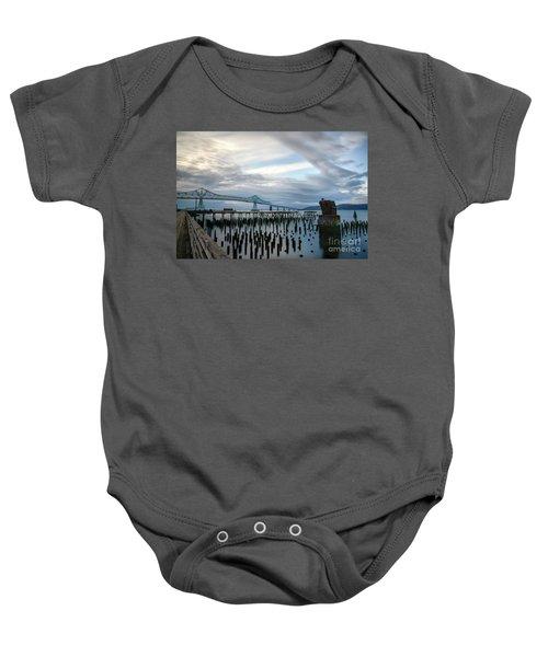 Overlooking The Bridge Baby Onesie