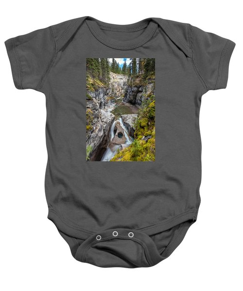 Owl Face Falls Of Maligne Canyon Baby Onesie
