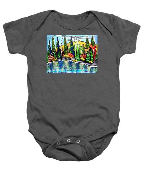 Pacific Coast Forest Baby Onesie