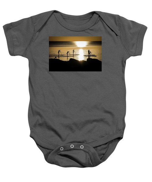 Paddle Gold Baby Onesie