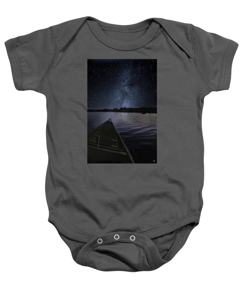Paddling The Milky Way Baby Onesie