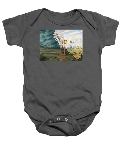 Paintin Up A Storm Baby Onesie
