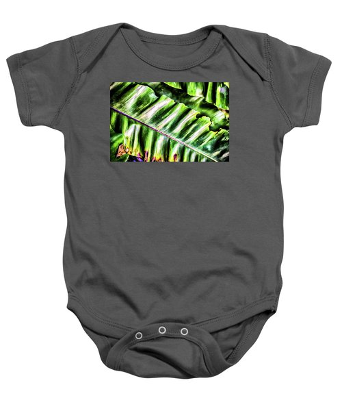 Palm Fronds Up Close Baby Onesie