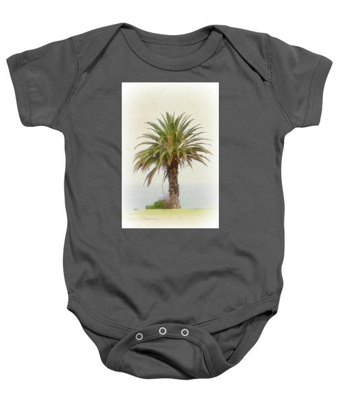 Palm Tree In Coastal California In A Retro Style Baby Onesie