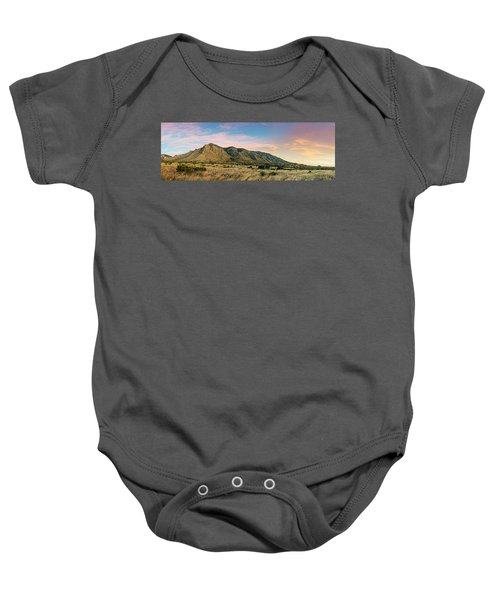 Panorama Of Hunter Peak And Frijole Ridge At Guadalupe Mountains National Park - West Texas Baby Onesie