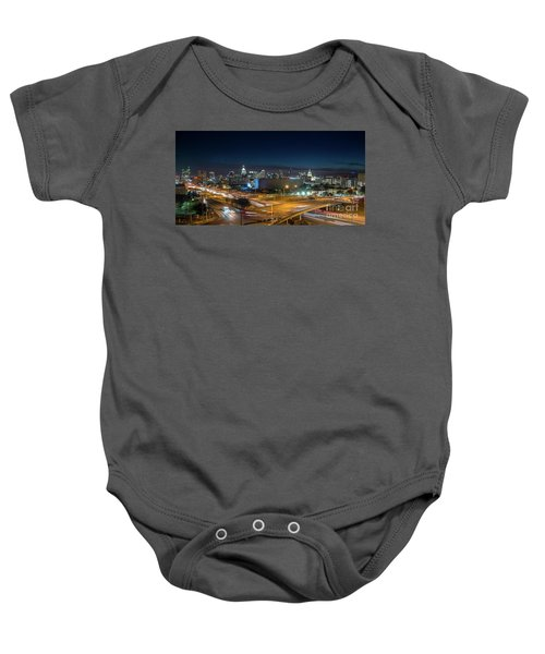 Panoramic View Of Busy Austin Texas Downtown Baby Onesie