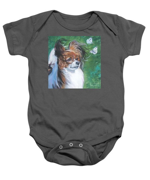 Papillon And Butterflies Baby Onesie