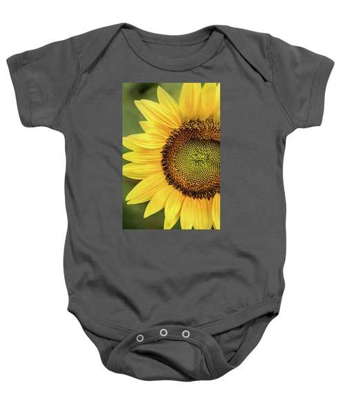Part Of A Sunflower Baby Onesie