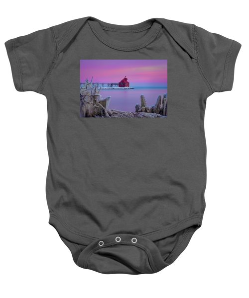 Pastel Lighthouse Baby Onesie
