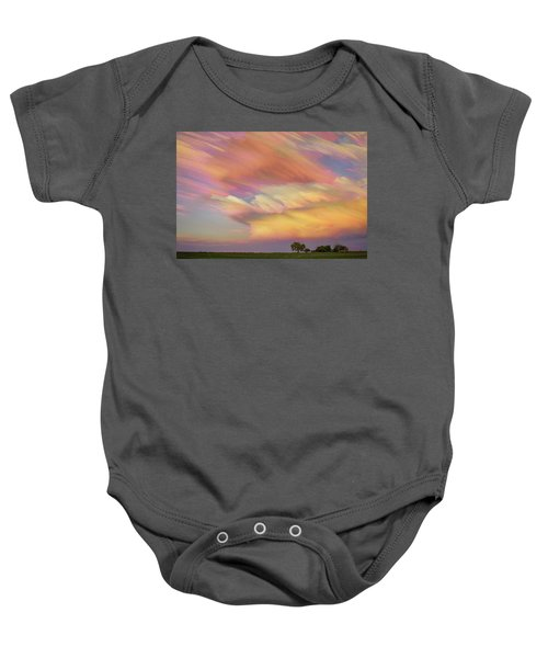 Baby Onesie featuring the photograph Pastel Painted Big Country Sky by James BO Insogna