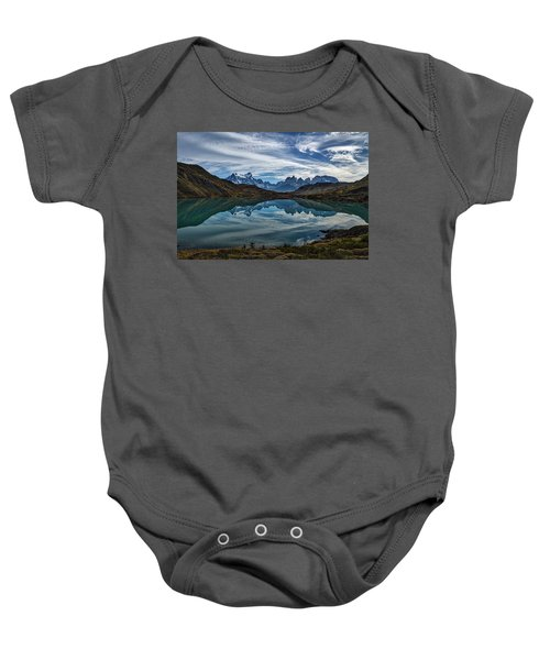 Patagonia Lake Reflection - Chile Baby Onesie
