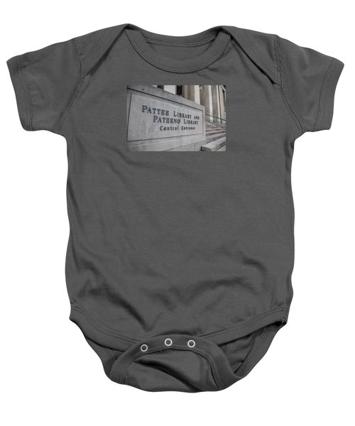 Paterno Library At Penn State  Baby Onesie by John McGraw