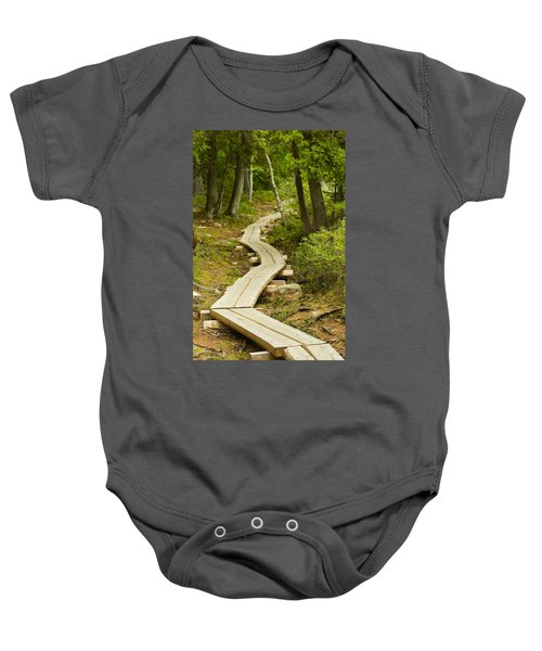 Path Into Unknown Baby Onesie by Sebastian Musial