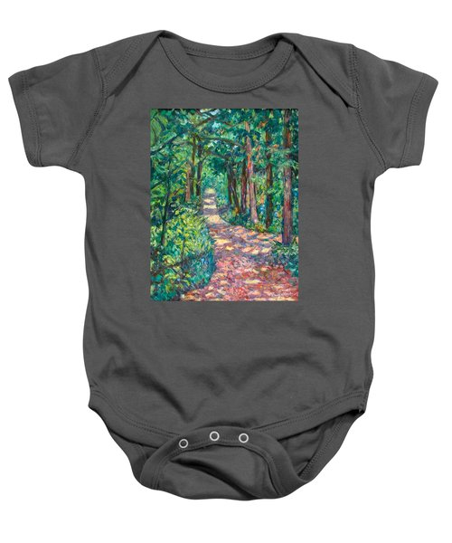 Baby Onesie featuring the painting Path On Sharp Top by Kendall Kessler