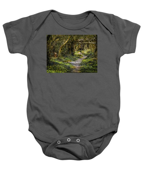 Baby Onesie featuring the photograph Path Through Yeats' Fairy Forest by James Truett