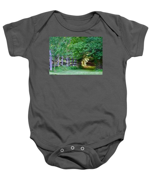 Pathway To A Sunny Summer Morning  Baby Onesie